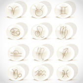 Symbols sign in spheres on the white background — Stock Vector