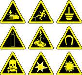 Warning signs set — Cтоковый вектор