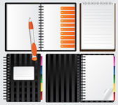 Notebooks for your presentations — Stock Vector