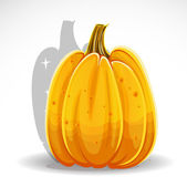 Orange Halloween pumpkin isolated on white background — Cтоковый вектор
