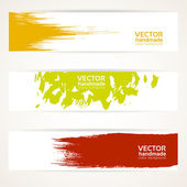 Abstract color vector banner set — Stock Vector