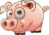 Vector young pig — Stock Vector