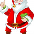 Cute Santa Claus with gift — Stock Vector #33357655