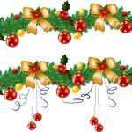 Christmas garland — Stock Vector