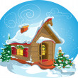 Stock Vector: Christmas home. raster
