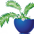 Plant in Flowerpot — Stockvectorbeeld