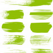Green brush strokes - the perfect backdrop for your text or cool brushes — Stock Vector