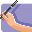 Hand and pen — Stock Vector #33355729
