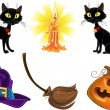 Halloween icons — Vector de stock #33355753