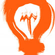 Sketch orange lightbulb. element for design — Stock Vector