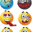 Постер, плакат: Set of batch vector round smiles emotion