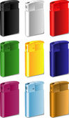 Color souvenir lighter — Stock Vector