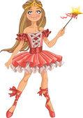 Cute dancing ballerina Fairy — Stock Vector