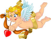 Fun cupid with onion and arrow — Vetorial Stock