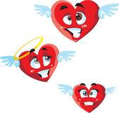 Zestaw serca — Wektor stockowy