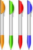 Souvenir pens — Stock Vector