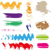 Multicolored gouache brush strokes - the perfect backdrop for your text - set 2 — Stock Vector