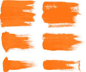 Orange brush strokes - the perfect backdrop for your text — Stockvektor