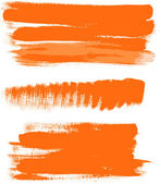 Orange gouache brush strokes - the perfect backdrop for your text 1 — Stock Vector
