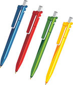 Plastic souvenir pens — Stock Vector