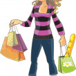 Shopping Girl — Stock Vector #33360219