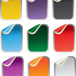 Square glossy stickers — Image vectorielle