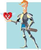 Brave knight — Stockvektor
