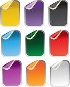 Fyrkantiga glansigt klistermärken — Stockvektor