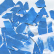 Abstract background of painted and torn blue paper — Stock Photo