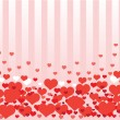 Background from hearts — Stock Vector