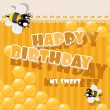 Happy Birthday to my sweet - card — Stock Vector