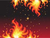 Hot Fire background bunner — Stock Vector