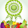 Star award for environmentally friendly fresh product — Image vectorielle