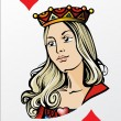 Queen of heart. Deck romantic graphics cards — Imagen vectorial