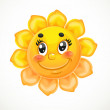 Cute smiling sun — Stock Vector