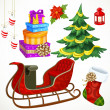 Set of Christmas decorations — Imagen vectorial