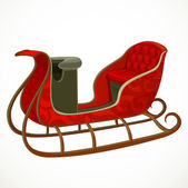 Santa's sleigh isolated on a white background — Stock Vector