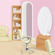 Beauty salon interior — Vettoriali Stock