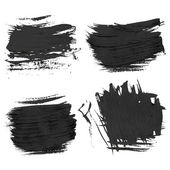 Chaotic rough realistic brush strokes with thick paint 2. Vector drawing — Stok Vektör
