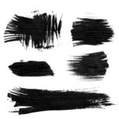 Chaotic rough realistic brush strokes with thick paint 1. Vector drawing — Stok Vektör