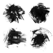 Chaotic rough realistic brush strokes with thick paint. Vector drawing — Stok Vektör