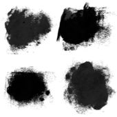 Rough prints and thick paint strokes on paper 2. Vector drawing — Vector de stock