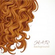 Stock Vector: Background with curly brown hair