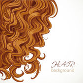 Background with curly brown hair — Stock Vector