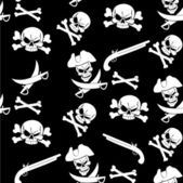 Jolly Roger seamless pattern — Stock Vector