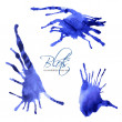 Stock Vector: Blue blots to revitalize your text 6