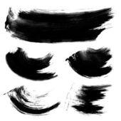 Realistic black gouache texture strokes 1 — Stock Vector