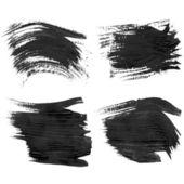Realistic black gouache texture strokes 2 — Stock Vector
