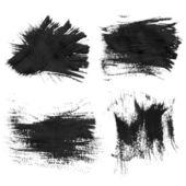 Realistic black gouache texture strokes 3 — Stock Vector