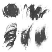 Set realistic paint strokes drawn on paper 6. vector — Stockvektor